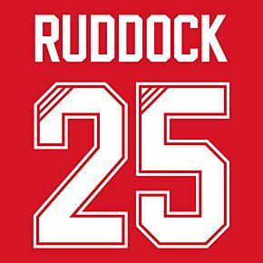 Ruddock 25 (Retro Flock Printing) 95-96 Liverpool Home