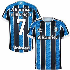 20-21 Gremio Home Shirt + M. Henrique 7 (Fan Style Printing)