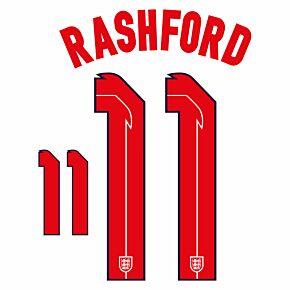 Rashford 11 (Official Printing) - 20-21 England Home