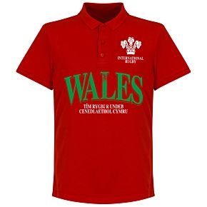 Wales Rugby Polo Shirt - Red