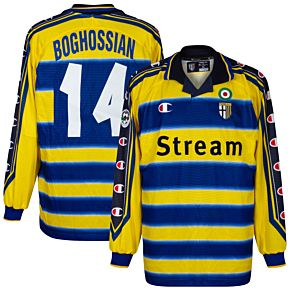 99-00 Parma Home L/S Jersey +Boghossian 14 - Players