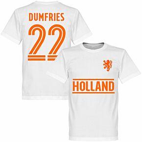 Holland Dumfries 22 Team KIDS T-shirt - White