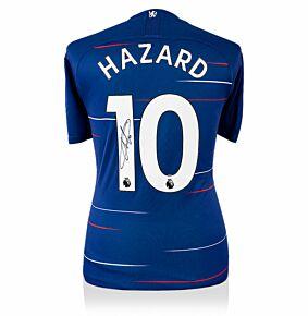 Eden Hazard Signed Chelsea Home Jersey 2018-2019