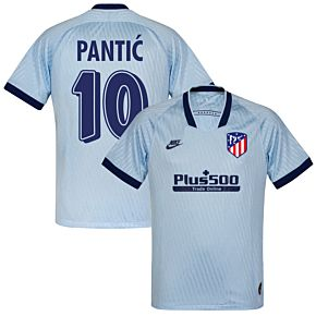 Nike Atletico Madrid 3rd Pantic 10 Jersey 2019-2020 (Retro Printing)