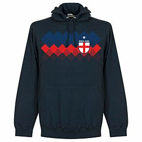 England 2018 Pattern Hoodie - Navy