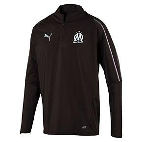 Olympique Marseille 1/4 Zip Training Top 2018 / 2019 - Black