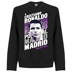 Ronaldo Madrid Portrait Sweatshirt - Black