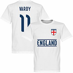 England Vardy Team Tee - White