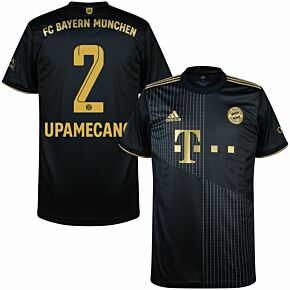 21-22 FC Bayern Munich Away Shirt + Upamecano 2 (Official Printing)