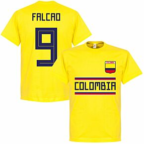 Colombia Falcao 9 Team Tee - Yellow