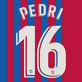 Pedri 16 (Official Printing) - 21-22 Barcelona Home