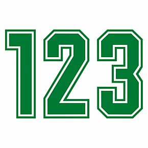 Keyline Style Green Flock Numbers