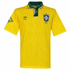 Umbro Brazil 1991-1993 Home Shirt - USED Condition (Good) - Size L **HD IMAGE**