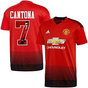 Man Utd Home Cantona 7 Jersey 2018 2019 (Gallery Style Printing)