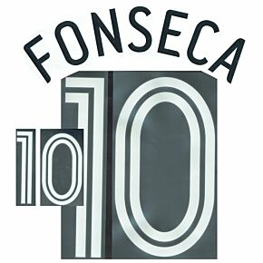 Fonseca 10 - 06-07 Mexico Home Name and Number Transfer
