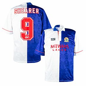 Asics Blackburn Rovers 1992-1994 Home Shearer 9 Shirt - USED Condition (Good) - Size L  *READY TO PUBLISH*