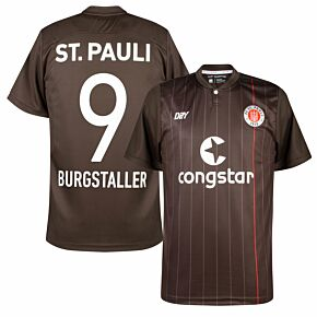 21-22 St Pauli Home Shirt + Burgstaller 9 (Official Printing)