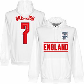 England Grealish 7 Team Hoodie - White