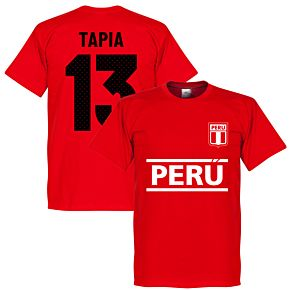 Peru Tapia 13 Team T-Shirt - Red