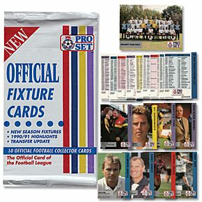 90-91 Football League Official Fixture Cards