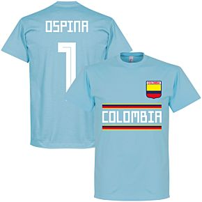 Colombia Ospina 1 Team Tee - Ice Blue