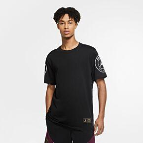 20-21 PSG x Jordan Logo T-shirt - Black