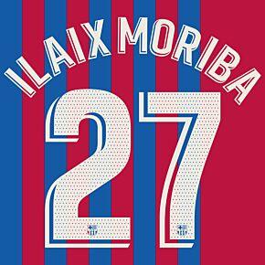 Iliax Moriba 27 (Official Printing) - 21-22 Barcelona Home