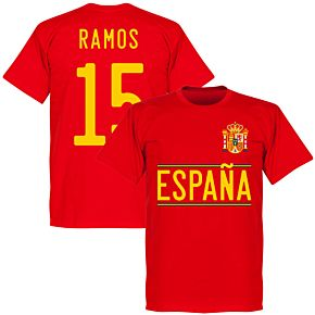 Spain Ramos 15 2020 Team T-Shirt - Red