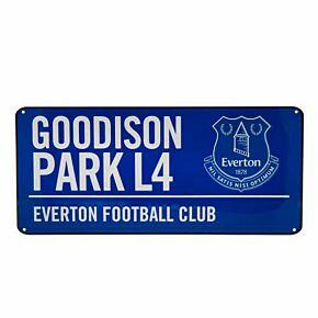 Everton Color Street Sign (40cm x 18cm)