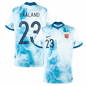 20-21 Norway Away Shirt + Haaland 23 (Official Printing)