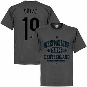 Deutschland Weltmeister Götze Tee - Grey