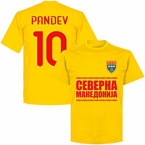 North Macedonia Pandev 10 Team T-shirt - Yellow