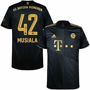 21-22 FC Bayern Munich Away Shirt + Musiala 42 (Official Printing)