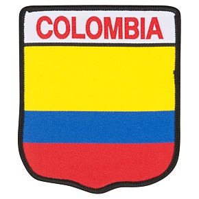 Colombia Embroidery Patch 9cm x 7.5cm