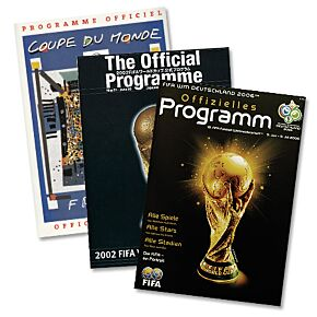 World Cup Collectors Programs - Set of 3