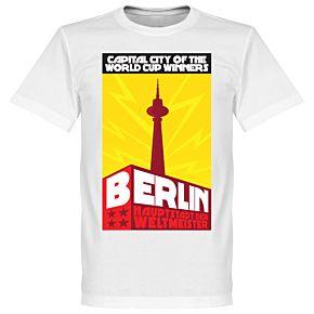 Berlin Capital Tee - White/Yellow