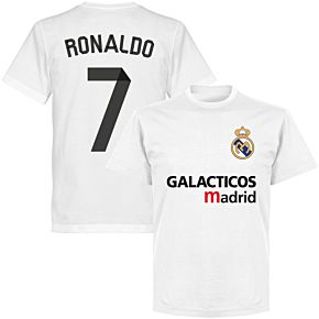 Galácticos Madrid Ronaldo 7 Team T-shirt - White
