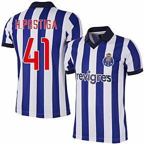 2002 FC Porto Home Retro Shirt + H.Postiga 41 (Retro Flex Printing)