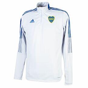 21-22 Boca Juniors L/S Training Top - Grey