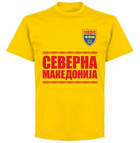 North Macedonia Team T-shirt - Yellow