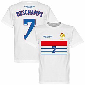 France Champions 98 Retro Deschamps 7 Tee - White