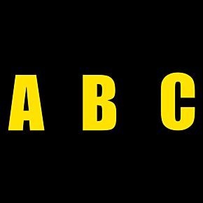 Retro Shadow Style Yellow Letters