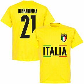 Italy Donnarumma 21 Team T-shirt - Lemon Yellow