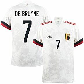 2021 Belgium Away Shirt + De Bruyne 7 (Official Printing)