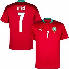 20-21 Morocco Home Shirt + Ziyech 7 (Official Printing)