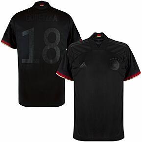 2021 Germany Away Shirt + Goretzka 18(Blackout Edition)