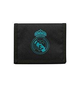 Real Madrid Nylon Velcro Wallet - Black/Green