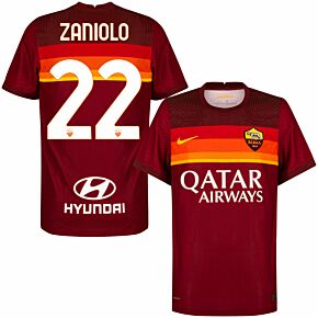 20-21 AS Roma Vapor Match Home Shirt + Zaniolo 22 (Official Printing)