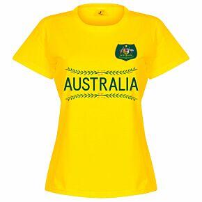 Australia Team Womens Tee - Yellow