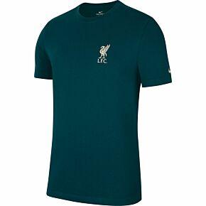 21-22 Liverpool Travel T-Shirt - Dark Green
